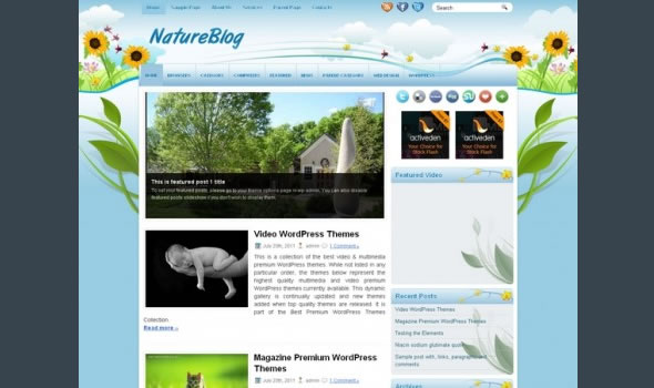 WP-Nature Blog WordPress Themes