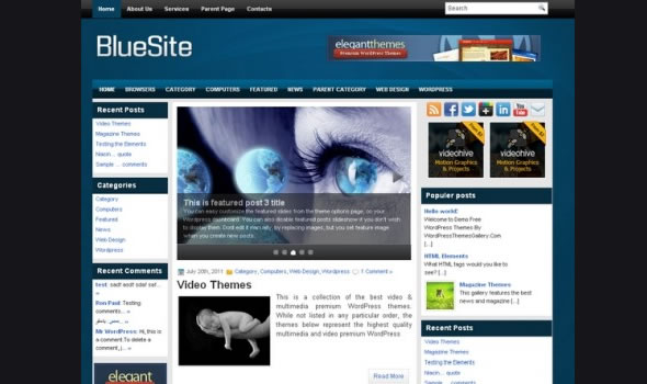 WP-Blue Site