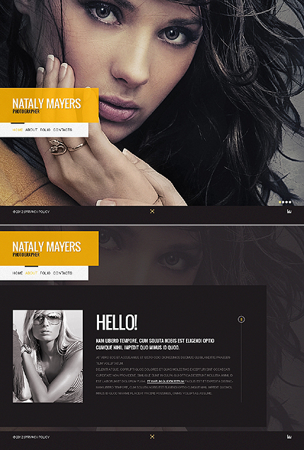 Nataly Mayers Flash Website Template