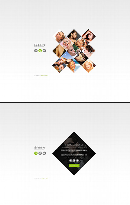 Green Photo Website Template