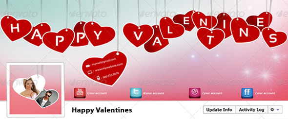 Happy valentines Timeline Cover