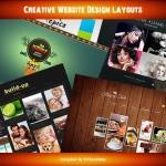 creative website design layouts