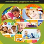Colorful Day Care, Nursery & Kindergarten Kids Website Templates
