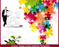 Artistic Jigsaw Puzzle Website Templates