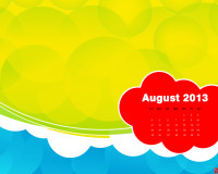 Gorgeous Free Desktop Wallpaper Calendar - August 2013