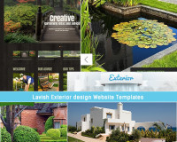 lavish exterior design website templates