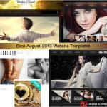 best august 2013 website templates