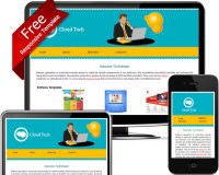 FREE! Eye-Catching Yellow And Blue Dreamweaver Responsive Website Template