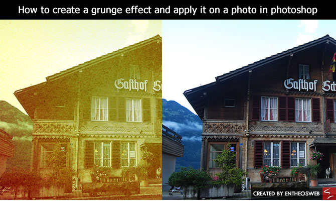 How to create a grunge effect and apply it on a photo in photoshop