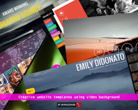 Creative website templates using video background