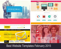 Best website templates Feb 2015 collage