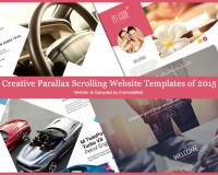 creative parallax templates of 2015