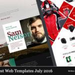 Best Web Templates July 2016