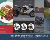 Best of the Best Website Templates 2016