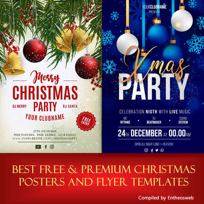 best free premium christmas posters and flyer templates entheos
