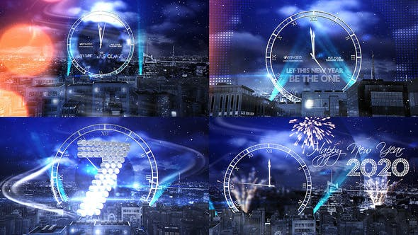 New Year Eve Countdown 2020 - Ticking Clock Effect