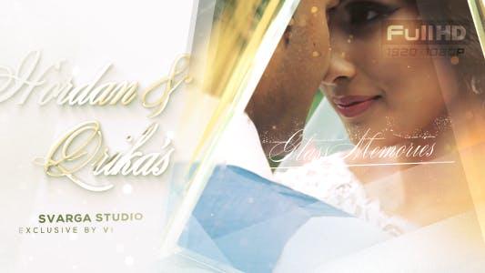 Glass Wedding Video Memories