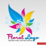 Colorful Floral Logo Design In Corel Draw