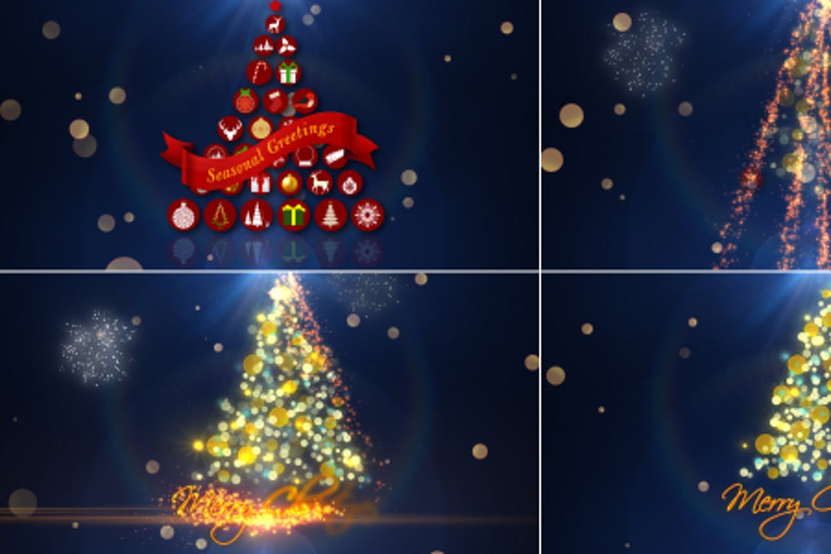Christmas Tree Animated Videos