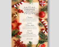 Free Christmas Menu Design
