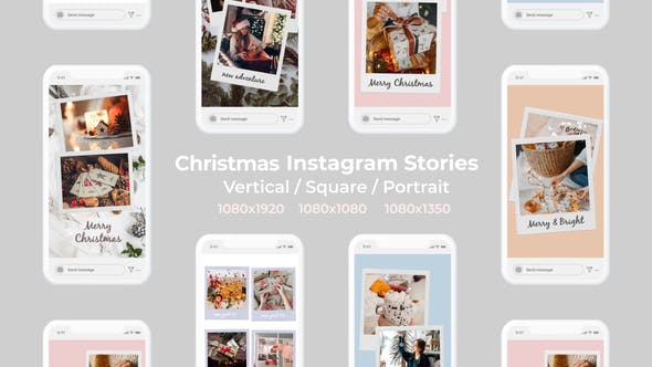 Christmas Instagram Stories | Vertical Square Portrait