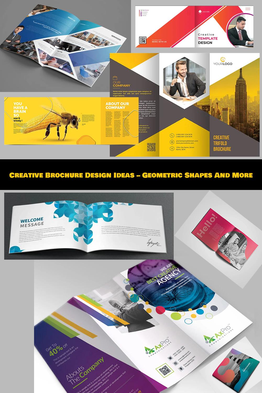 Creative Brochure Design Ideas - Geometric Shapes And More