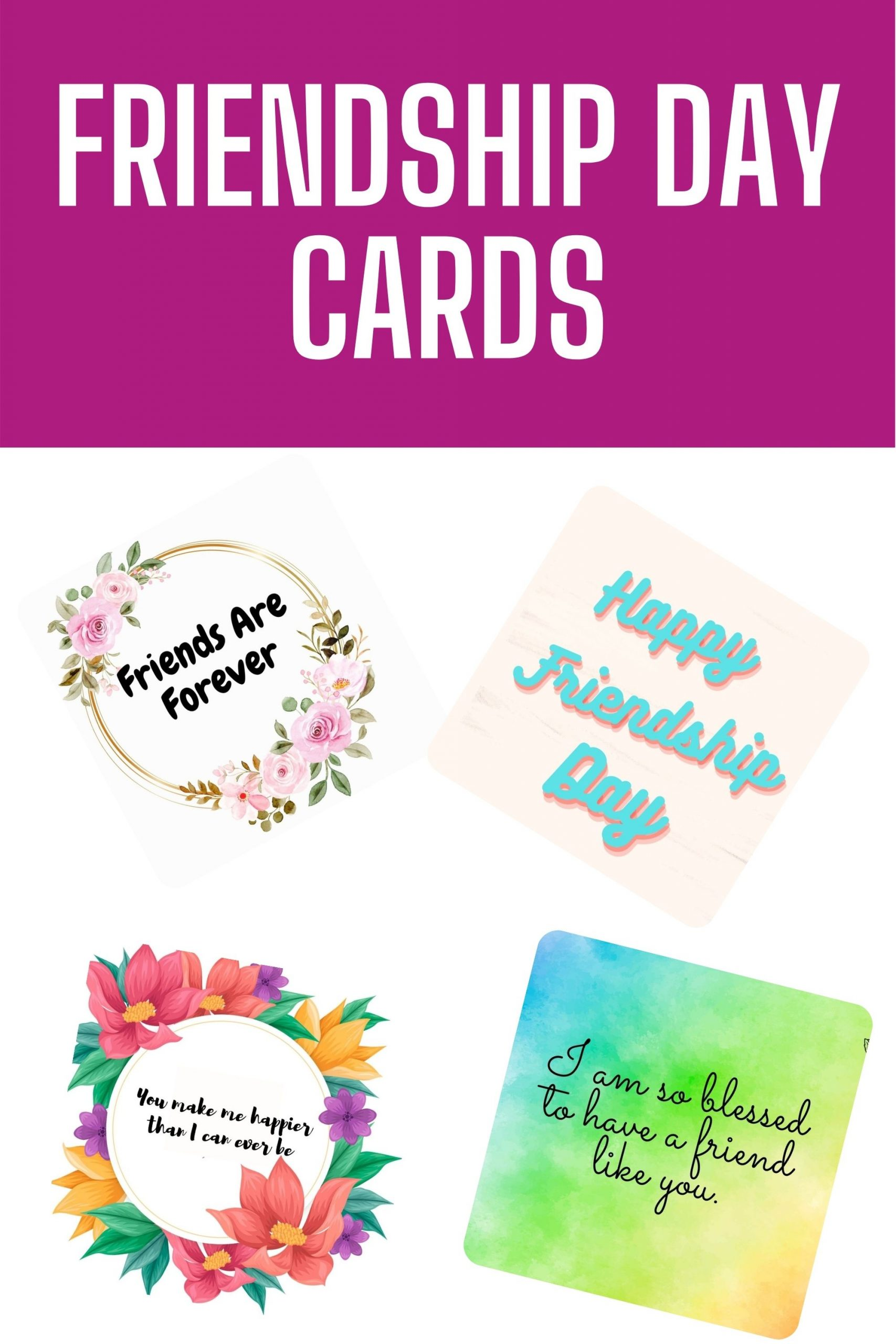 Friendship Day Cards - Meaningful Cards About Friends