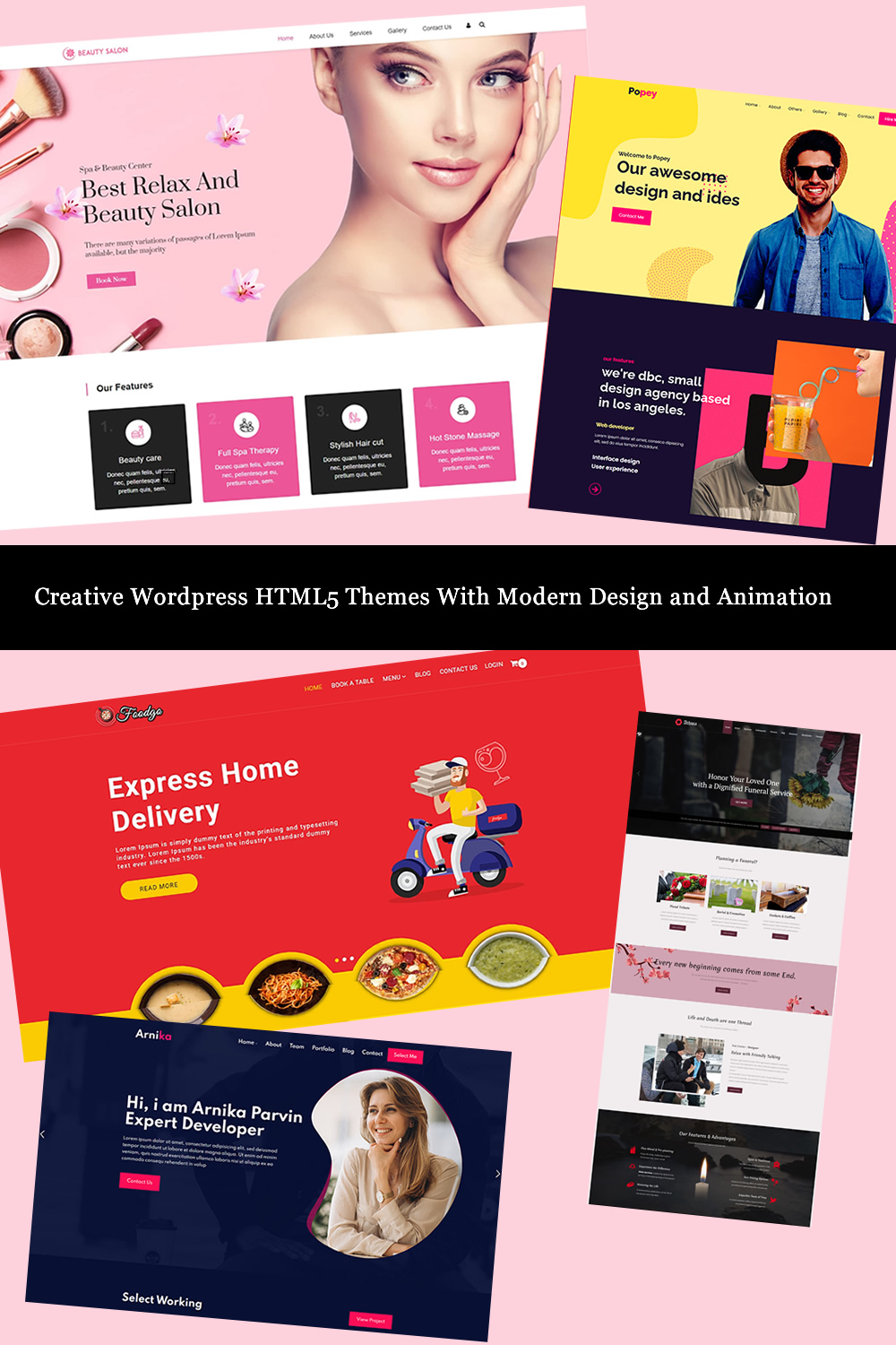 Creative Wordpress HTML5 Themes With Modern Design and Animation