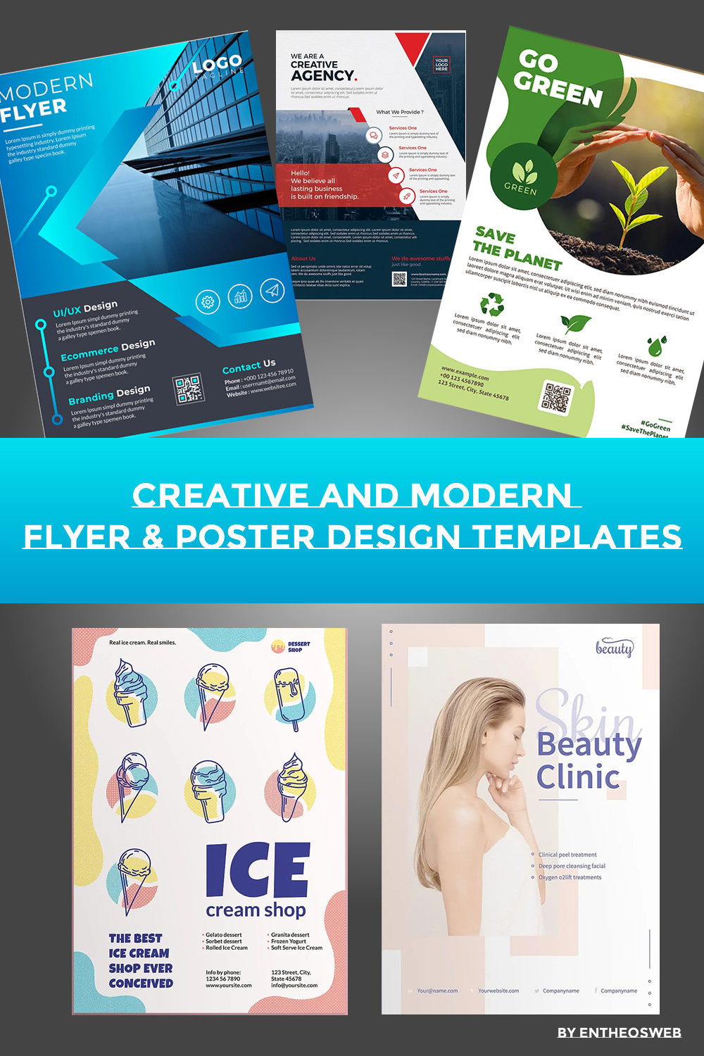 Creative and Modern Flyer & Poster Design Templates