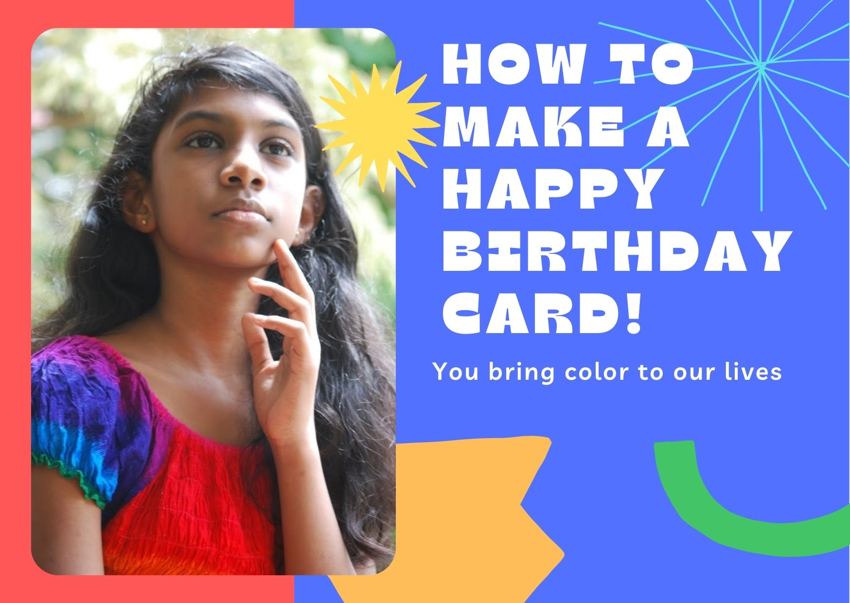 how to make a personalized Happy birthday card