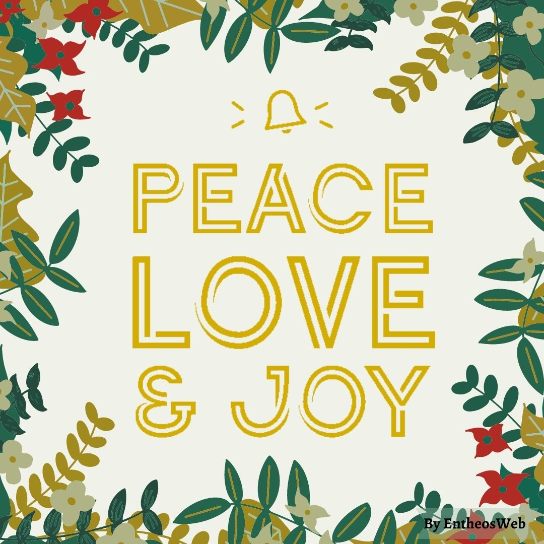 Peace, Love and Joy - Beautiful Christmas Instagram Banner and Christmas Card