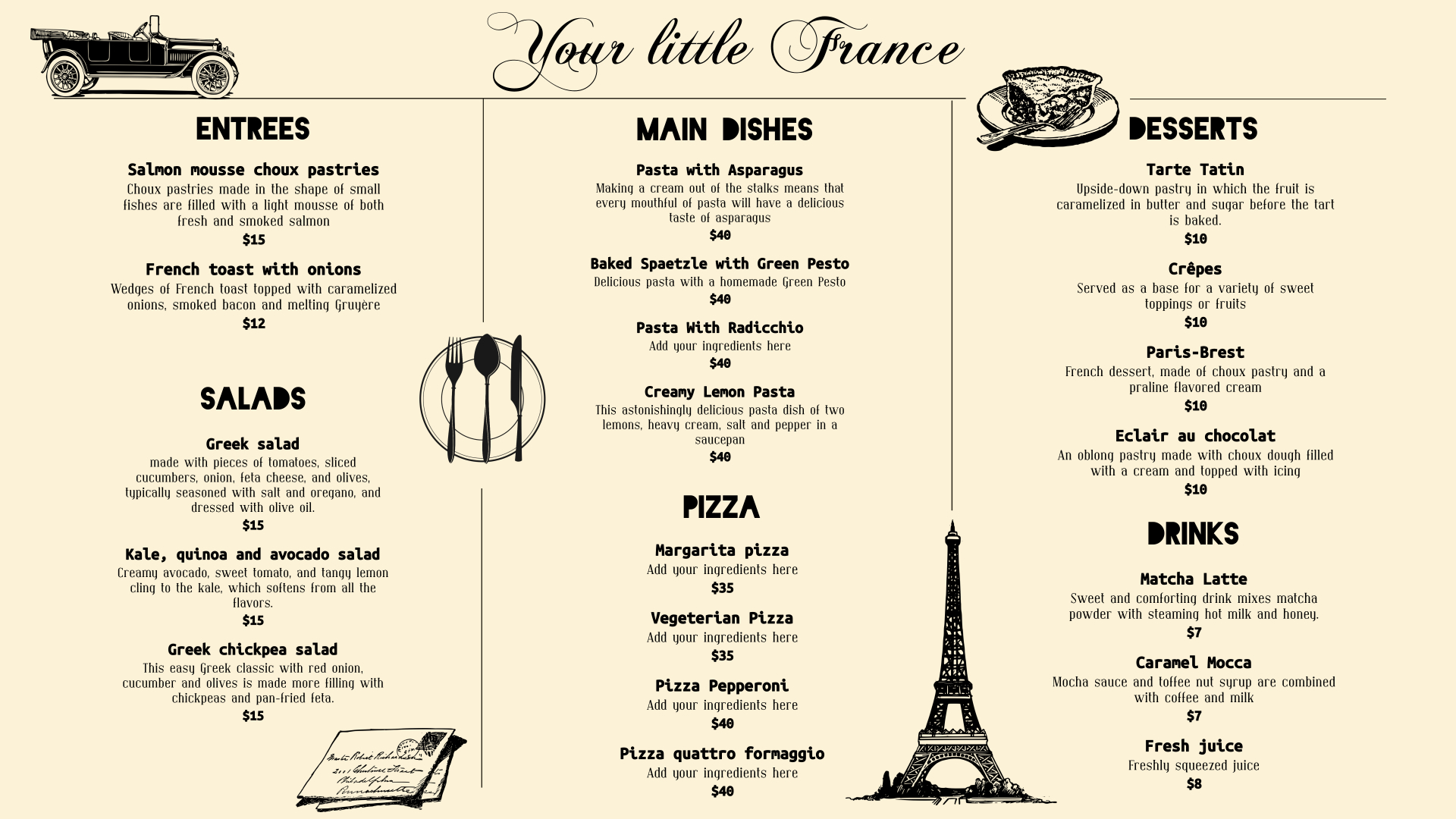 Jazz up your menu design in 5 simple steps