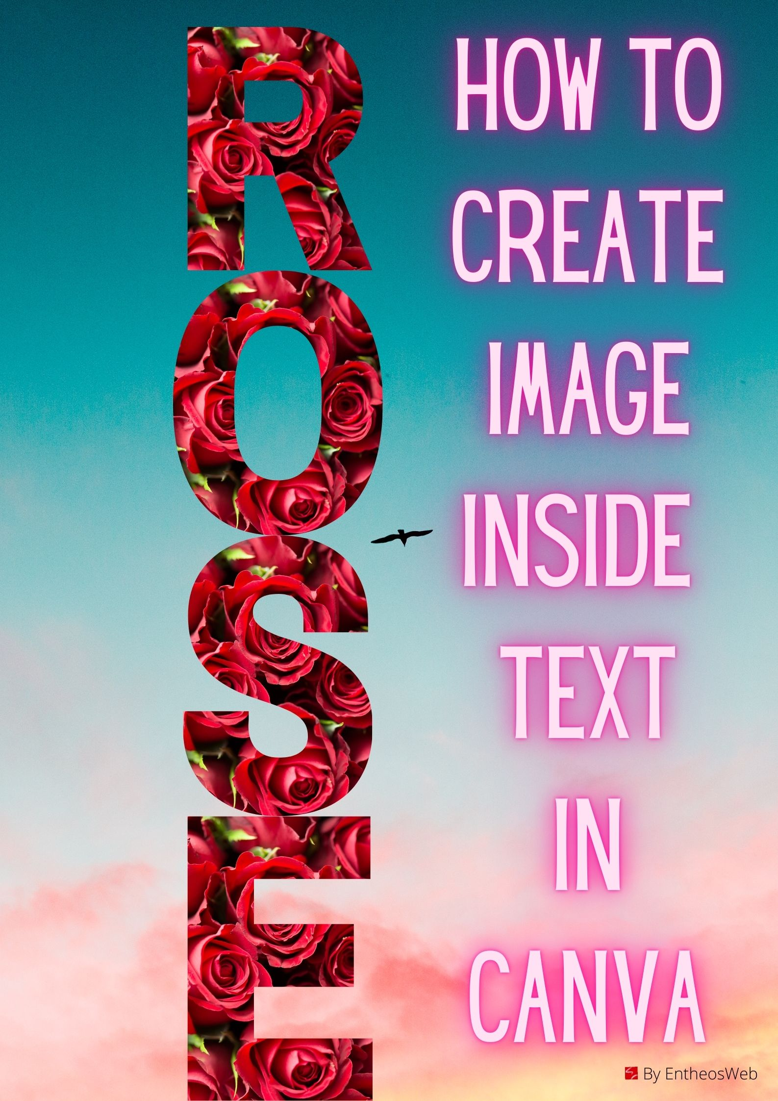 How to Easily Create Image Inside Text In Canva