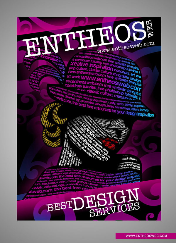 Typography Graphic Design in CorelDraw