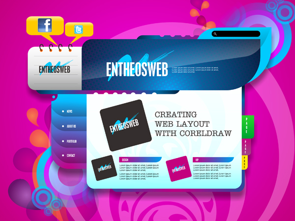 Website Layout Design in CorelDraw